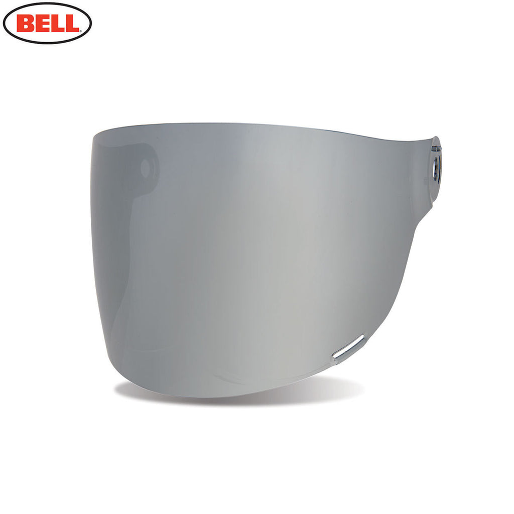 Bell Bullitt Helmet Flat Shield / Visor (Brown Tabs) Dark Silver Iridium - Bell -  - MSG BIKE GEAR