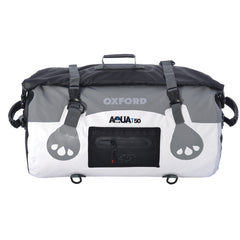 Oxford AQUA T50 Waterproof Motorcycle Roll Bag - 50 Litres - WHITE/GREY - Oxford -  - MSG BIKE GEAR