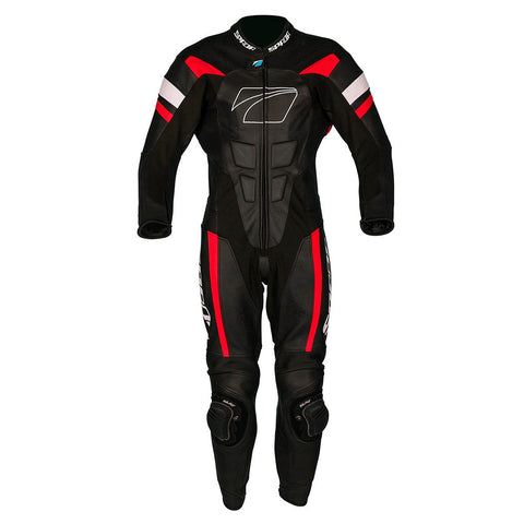 Spada Curve Evo 1 Piece Leather Motorbike Motorcycle Race Suit - Black/Red - Spada -  - MSG BIKE GEAR