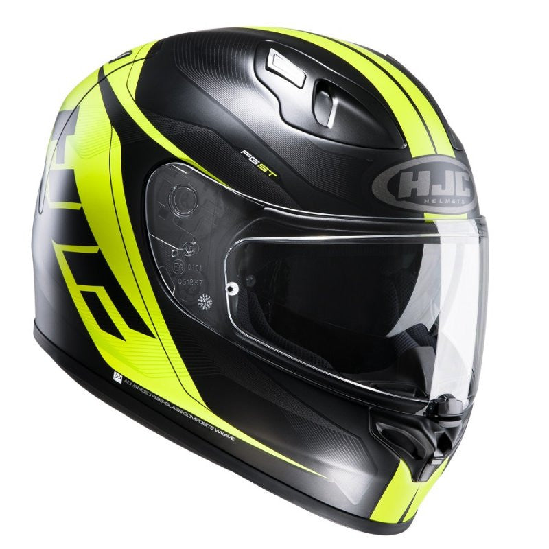 HJC FG-ST Inner Sun Visor Full Face Motorcycle Helmet - Crono MC4HSF Yellow - HJC -  - MSG BIKE GEAR - 1