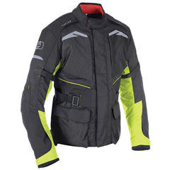 Oxford Quebec 1.0 Waterproof Textile Jacket - Black / Fluo
