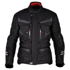 Oxford Torino Men's Waterproof Touring Textile Motorcycle Jacket Tech Black - Oxford -  - MSG BIKE GEAR - 1