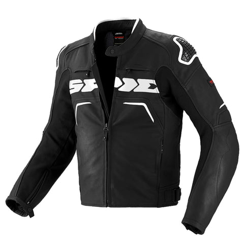 Spidi Evo Rider Leather Sports Jacket - Black / White