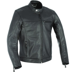 Oxford Walton Leather Jacket - Black