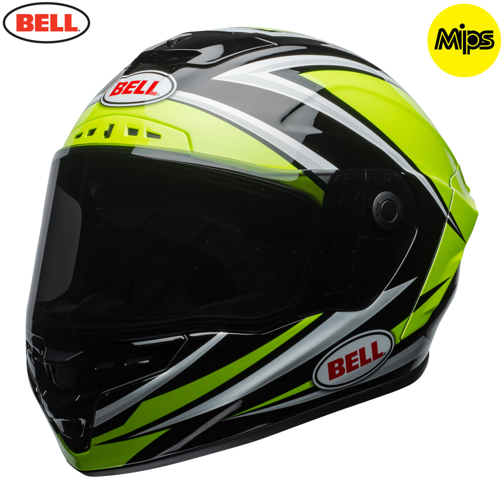 Bell 2018 Star MIPS Helmet - Torsion Hi-Viz Green / Black