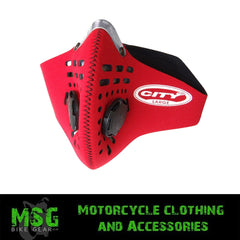 RESPRO CITY ANTI POLLUTION MASK - RED - Respro -  - MSG BIKE GEAR