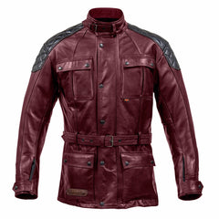 Spada Berliner Motorcycle Motorbike Breathable Leather Jacket - Oxblood - Spada -  - MSG BIKE GEAR - 1