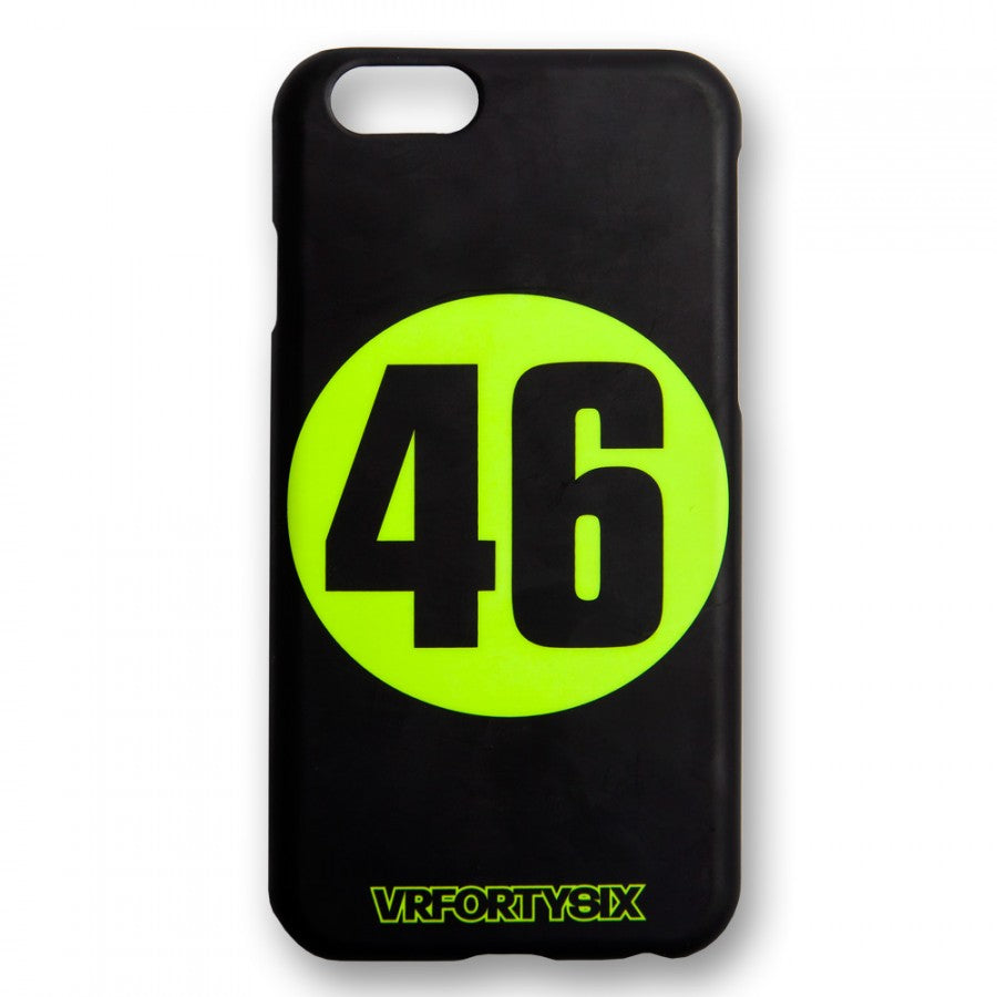 VR46 Valentino Rossi MotoGP 46 Stamp iPhone 6/6S Phone Case Cover - Black - VR46 -  - MSG BIKE GEAR