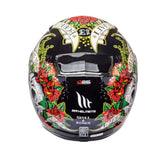 MT Revenge Skull & Roses Full Face Helmets - Black/Red