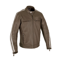 Oxford Bladon Leather Cafe Racer Jacket - Brown