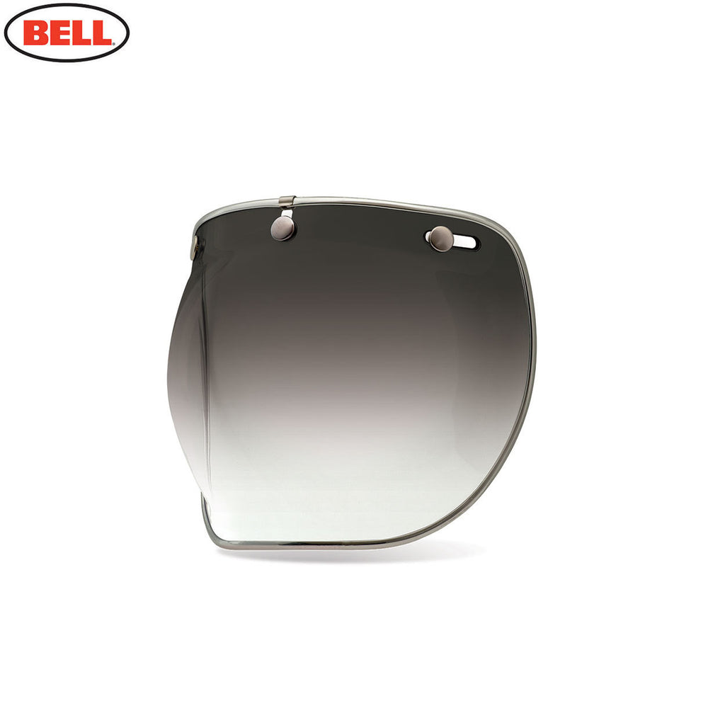 Bell Custom 500 3-Snap Bubble Deluxe Helmet Sield / Visor - Smoke Gradient - Bell -  - MSG BIKE GEAR