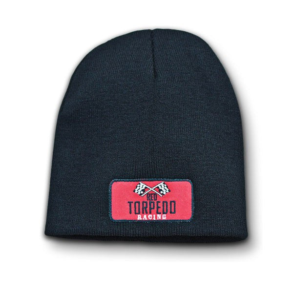 Red Torpedo Primo Clothing Motorcycle Retro Racing Beanie - Graphite - Red Torpedo -  - MSG BIKE GEAR