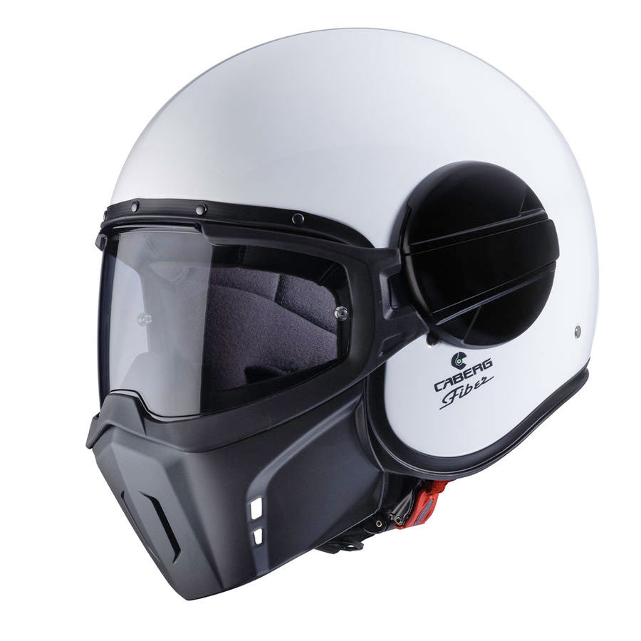 Caberg Ghost Open Face Streetfighter Scooter Motorcycle Helmet - White - Caberg -  - MSG BIKE GEAR - 1