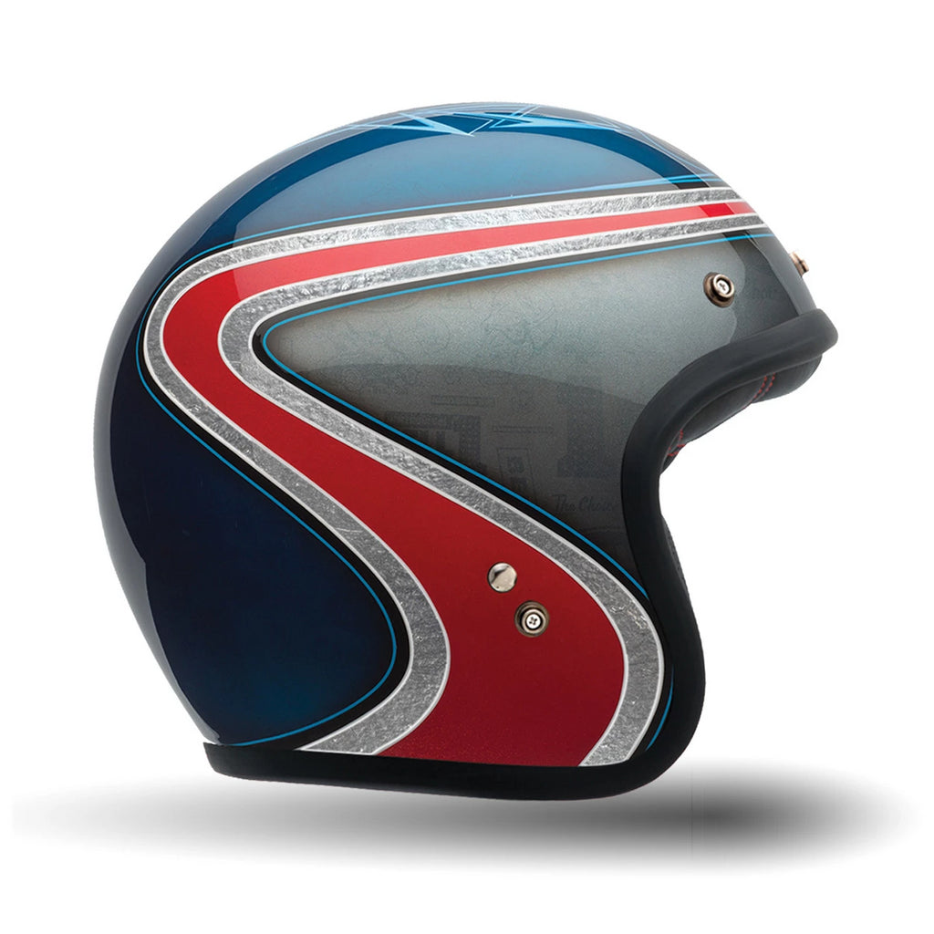 Bell 2016 Custom 500 SE Open Face Motorcycle Helmet (Airtrix Heritage Blue/Red) - Bell -  - MSG BIKE GEAR