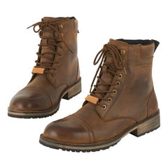 Furygan Caprino Motorcycle Casual Urban Retro Waterproof Leather Boots - Cafe - Furygan -  - MSG BIKE GEAR - 1