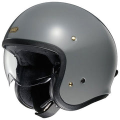 Shoei J.O Open Face Motorcycle Cruiser Scooter Helmet + Visor - Rat Grey - Shoei -  - MSG BIKE GEAR