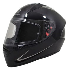 MT Stinger Solid Full Face Helmets - Gloss Black