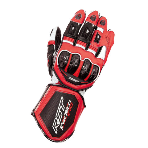 RST TRACTECH EVO CE 2579 LEATHER MOTORCYCLE RACE GLOVES RED - RST -  - MSG BIKE GEAR