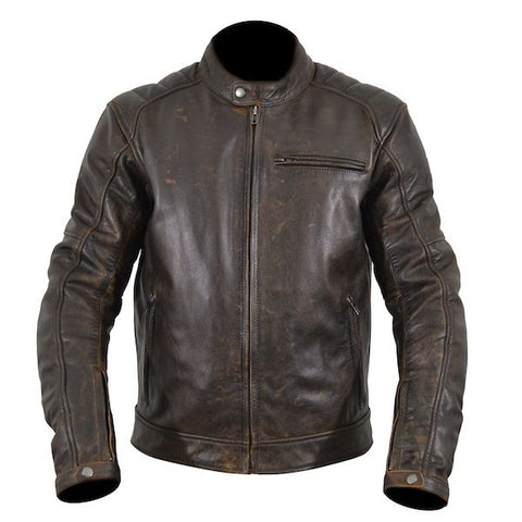 ARMR Hiro Classic Leather Motorcycle Jacket - Brown
