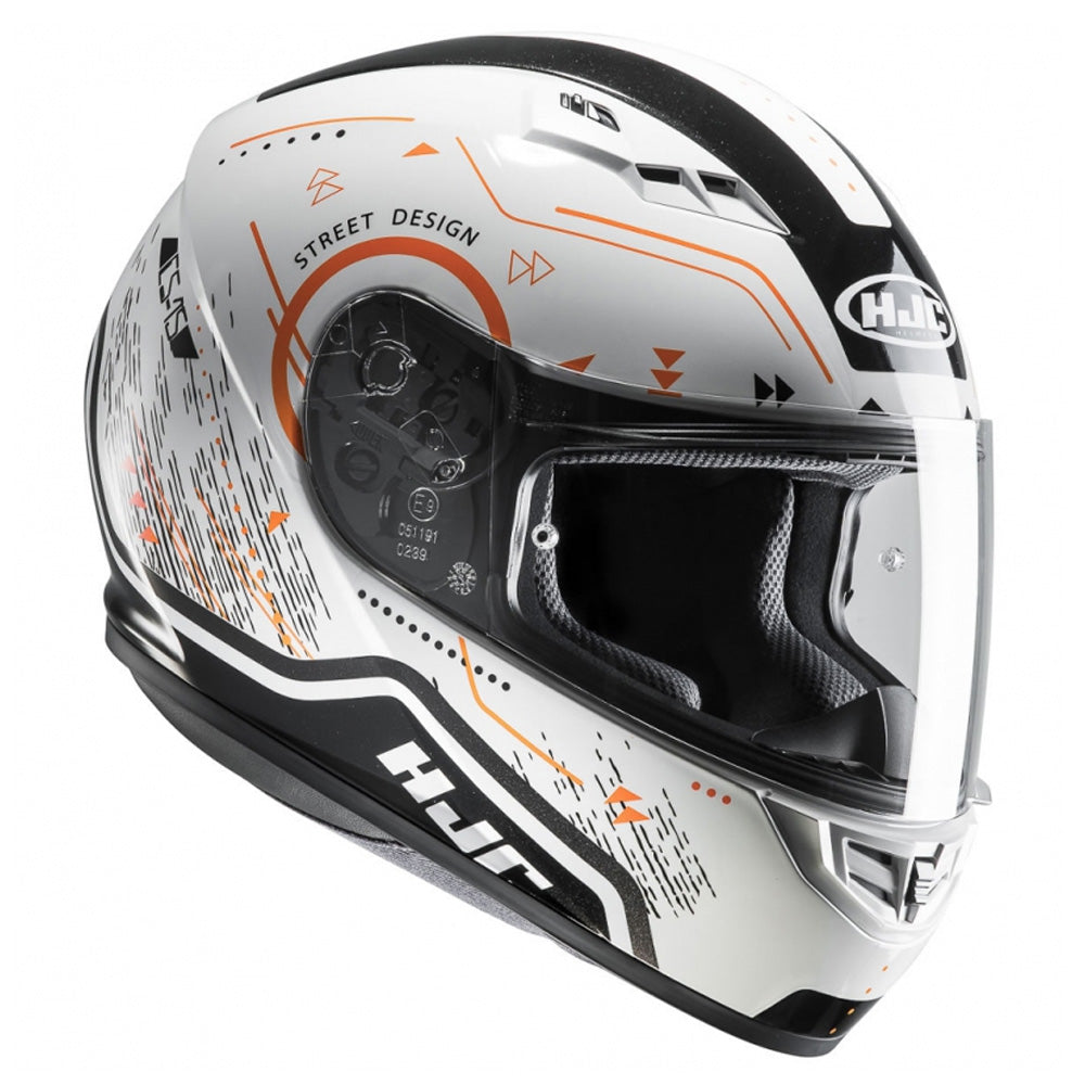HJC CS-15 Safa Full Face Helmet - Orange MC7