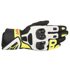 Alpinestars SP Air Mesh Leather Sports Motorcycle Gloves - Black/White/Fluo - Alpinestars -  - MSG BIKE GEAR