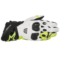 Alpinestars GP Pro R2 Leather Track Motorcycle Gloves - Black/White/Fluo - Alpinestars -  - MSG BIKE GEAR - 1