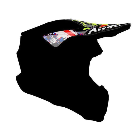 Airoh Twist Replacement MX Helmet Peak - Crazy Black