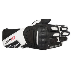 Alpinestars SP-8 V2 Leather Gloves - Black / White