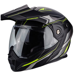 Scorpion Exo ADX-1 Flip Adventure Helmet - Anima Black/Yellow