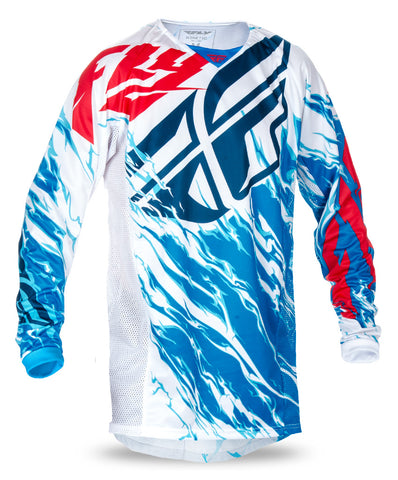 Fly 2017 Kinetic Relapse MX Motocross Adult Jersey Red/White/Blue - Fly Racing -  - MSG BIKE GEAR - 1
