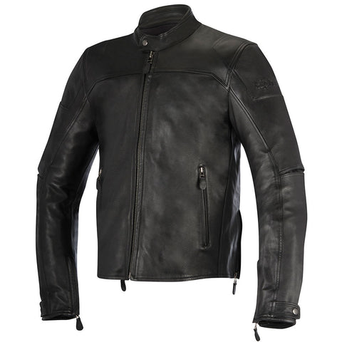Alpinestars Retro/Cruiser Look Brera Leather Motorcycle Jacket - Black - Alpinestars -  - MSG BIKE GEAR - 1
