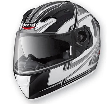 CABERG VOX SPEED MATT BLACK/WHITE FULL FACE DVS MOTORCYCLE HELMET - Caberg -  - MSG BIKE GEAR