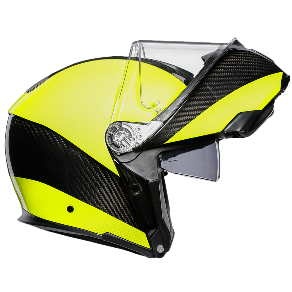 AGV Sports Flip Front Helmet -  Carbon Hi-Viz Yellow