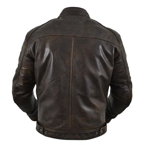 Armr Hiro Classic Leather Motorcycle Jacket Brown Msg Bike Gear