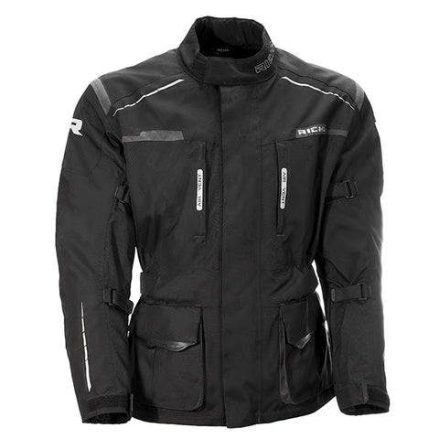 Richa Axel Textile Motorcycle Jacket - Black / Grey