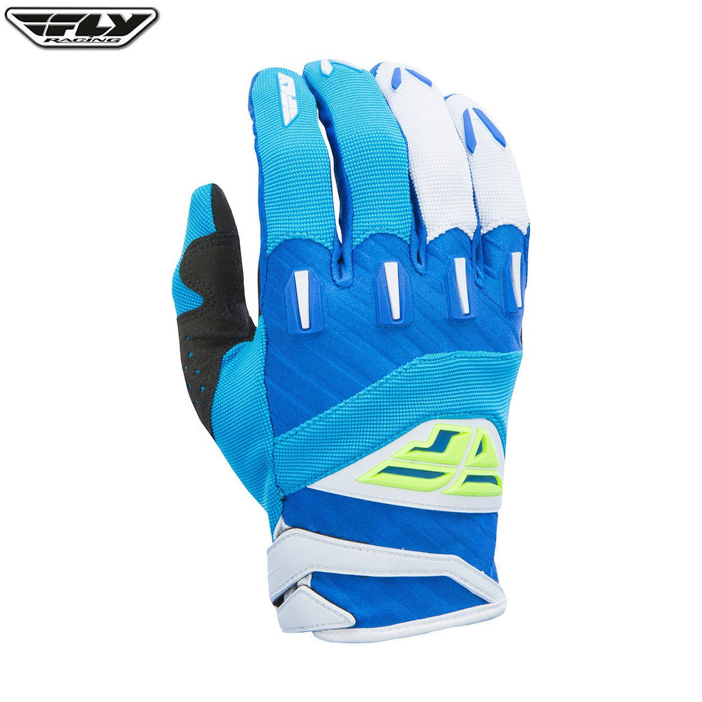 Fly Racing F-16 Youth Motocross Gloves (2017) -  Blue / Hi-Viz