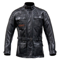 Spada Berliner Men's Waterproof Classic Leather Motorcycle Jacket - Black - Spada -  - MSG BIKE GEAR - 1