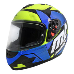 MT Thunder Torn (Kids) Full Face Helmets - Fluo Yellow/Blue