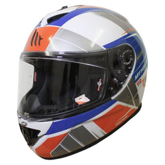 MT Rapide Global Helmet - White / Blue / Red