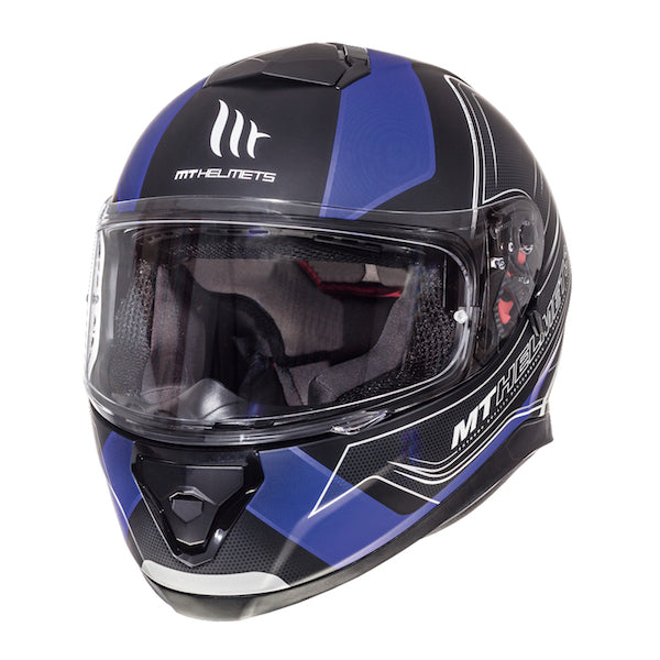 MT Thunder 3 SV 'Trace' Helmet - Matt Black / Blue