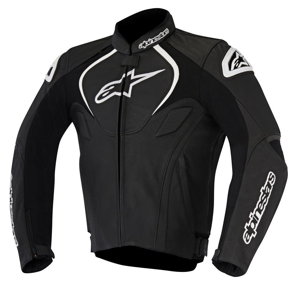 Alpinestars Jaws Leather Sports Touring Racing Motorcycle Jacket - Black - Alpinestars -  - MSG BIKE GEAR - 1