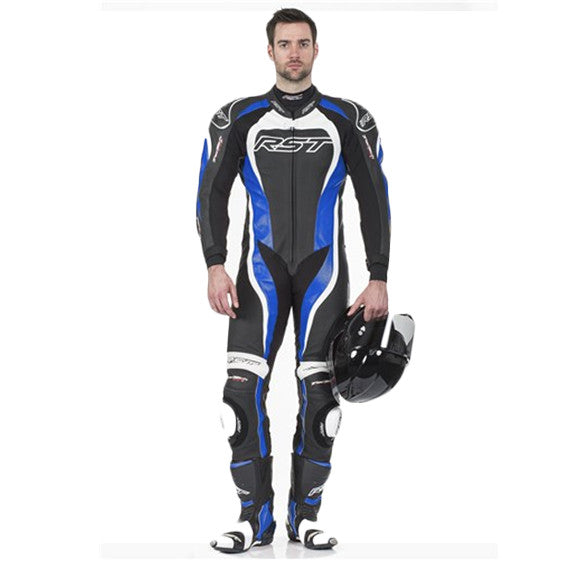 RST TRACTECH EVO II 1415 LEATHER SPORTS TRACK MOTORCYCLE SUIT BLUE - RST -  - MSG BIKE GEAR