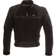 Richa Rex CE Approved Touring Race Leather Motorcycle Jacket.Black - Richa -  - MSG BIKE GEAR - 1