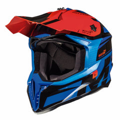 MT Falcon Weston Motocross Helmets - Blue/Black/Red