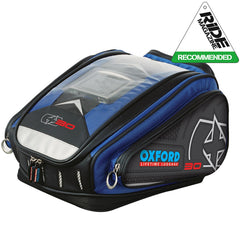 Oxford X30 QR Quick Release Motorbike Motorcycle Tank Bag - 30 Litres - BLUE - Oxford -  - MSG BIKE GEAR - 1