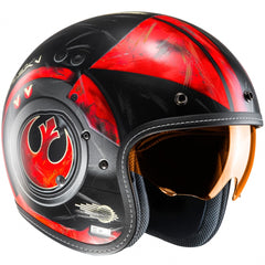 HJC FG-70S Star Wars Poe Dameron Open Face Helmet - Red MC1SF