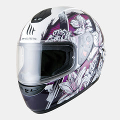 MT Thunder 'Wild Garden' Junior Helmet - White / Purple