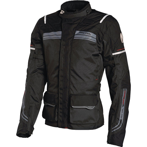 Richa Phantom Waterproof Textile Motorcycle Jacket.Black - Richa -  - MSG BIKE GEAR - 1