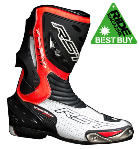 RST TRACTECH EVO CE 1516 MOTORCYCLE BOOTS FLO RED - RST -  - MSG BIKE GEAR - 1