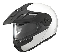 Schuberth E1 DVS Adventure Touring Motocycle Flip Up Helmet GLOSS WHITE - Schuberth -  - MSG BIKE GEAR - 1